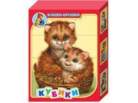 Кубики Кошки-крошки 12 штук