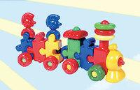 """Дет. игрушка-каталка """"Паровоз с индейцами"""" (1 вагон)"""