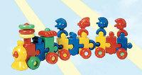 """Дет. игрушка-каталка """"Паровоз с индейцами"""" (2 вагона)"""