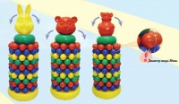 Дет. пирамида-качалка с шарами (мультяшки)