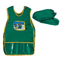 Детский фартук-накидка с пластиковыми карманами и нарукавниками