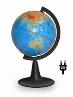 Глобус физический d-120мм круглая подставка