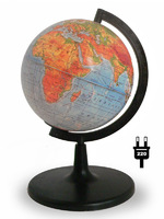 Глобус физический d-150мм с подсветкой круглая подставка