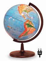 Глобус физический d-210мм с подсветкой круглая подставка