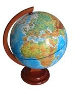 Глобус физический d-250мм деревянная подставка