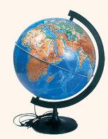 Глобус физический d-320мм с подсветкой пластиковая подставка