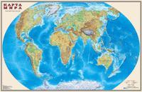 Карта политическая МИР  м-б 1:25млн.