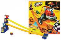 Набор детскийиз 3 длинных горок для машинок с фотофинишем (со звуковыми эффектами)