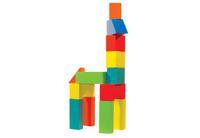 Конструктор детский деревянный наполовину  окрашенный 40 дет.