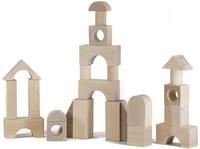 Конструктор детский деревянный неокрашенный 40 дет.