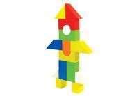 Конструктор детский деревянный окрашенный 26 дет.