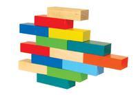 Набор детскийдеревянных кирпичиков наполовину окрашенных 36 штук