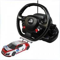 Дет. машина радиоупр. Audi R8 LMS  1:18 (с рулем управления)