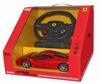 Дет. машина радиоупр. Ferrari 458 Italia (с рулём управления) 1:14
