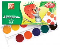 Медовая акварель ZOO (МИНИ) 12 цв. без кисти