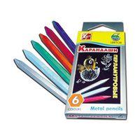 Восковые карандаши Перламутрики 6 цв.