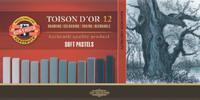 Мелки художественные сухие TOISON D`OR 12 штук серые