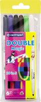 Фломастеры DOUBLE 2 и 1 MAGIC 6 цв.
