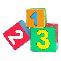"""Кубики детские """"Мякиши - Раз, Два, Три"""""""
