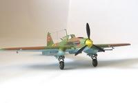 """Модели самолетов для склеивания самолет """"ИЛ-2"""" с пушками"""