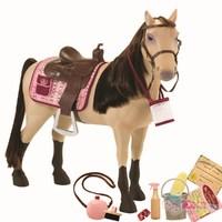 Дет. лошадь для куклы  со сгибающими суставами (Морган)