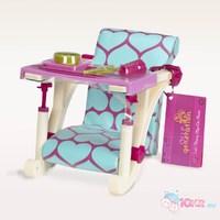 Детский стульчик для кормления куклы 46 см (крепление к столу)