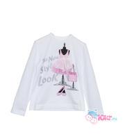 Дет. футболка с бантиком для девочек