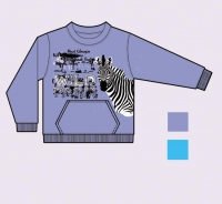 Дет. футболка с рисунком зебры
