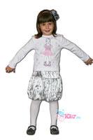 Детский комплект одежды (юбка + футболка с длинным рукавом)