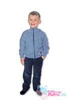 Дет. вязаная кофта для мальчика на молнии