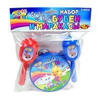 Набор детскиймузыкальных инструментов бубен и маракасы