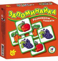 """Игра настольная  """"Запоминайка. Овощи и фрукты"""""""
