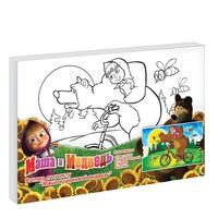 """Набор детский для росписи по холсту """"Маша и цирковой медведь"""""""