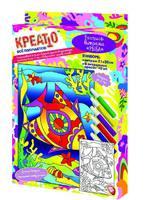 """Витражная роспись """"Рыба"""" (6х10мл)"""