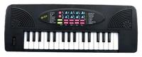 Синтезатор черный 32 клавиши с микроф. эл/мех