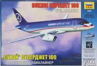 """Модели самолетов для склеивания""""Суперджет 100"""""""