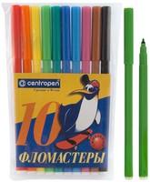 Фломастеры Пингвины 10 цв.