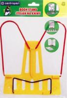 Подставка для книг жёлтая пластик+металл
