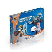 Конструктор детский металлический - экскаватор и подъемник, 132 детали