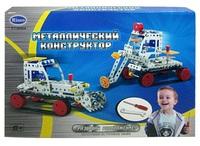 Конструктор детский металлический - рабочие машины, 206 дет.