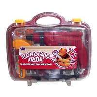 """Набор инструментов для детей """"Помогаю Папе"""", 20 предм., в чемодане"""