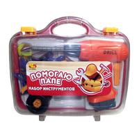 """Набор инструментов для детей """"Помогаю Папе"""", 4 пр., в чемодане"""