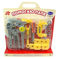 """Набор инструментов для детей """"Помогаю Папе"""", на блистере с ручкой PT-00139"""