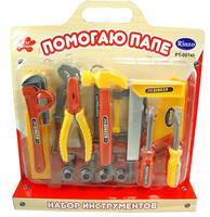 """Набор инструментов для детей """"Помогаю Папе"""", на блистере с ручкой PT-00140"""
