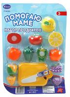 """Детский игрушечный набор овощей для резки на липучках """"Помогаю Маме"""", 14 предм., на блистере"""