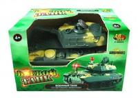 Детский игрушечный танк со световыми эффектами