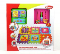 """Детский развивающий куб """"WINNER"""" Сборный домик с логическими играми"""