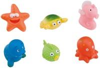 Веселые игрушки для ванны (6штук в сумке)