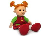 Кукла Майя в платье с карманами 28 см