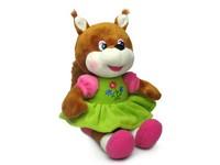 Игрушка мягкая Белка-девочка (муз.) 17 см